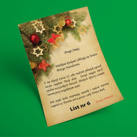 List od Świętego Mikołaja 6