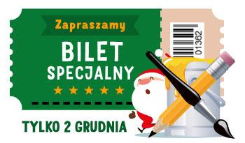 Bilet na imieninowe warsztaty Świętego Mikołaja 2 grudnia